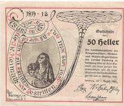 50 Heller (Salzburg - Landesverband der Kriegsinvaliden) – reverse