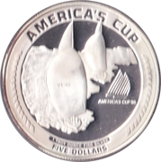 5 Dollars (America's Cup) -  reverse