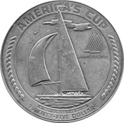 25 Dollars (America's Cup) -  reverse
