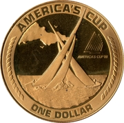 1 Dollar (America's Cup) -  reverse