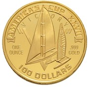 100 Dollars (America's Cup/ Olympics Mule) – obverse