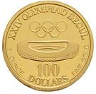 100 Dollars (America's Cup/ Olympics Mule) – reverse