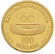 100 Dollars (America's Cup/ Olympics Mule) – reverse