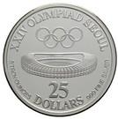 25 Dollars (XXIV Olympics) – reverse