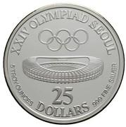25 Dollars (XXIV Olympics) -  reverse