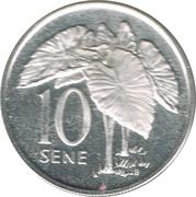 10 Sene - Tanumafili II – reverse