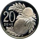 20 Sene - Tanumafili II (Silver Type) – reverse