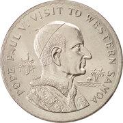 1 Tala - Tanumafili II (Papal Visit) – reverse