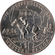 1 Tala - Tanumafili II (US Bicentennial) – reverse