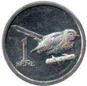 1 Sene (Samoan Fantail) – reverse