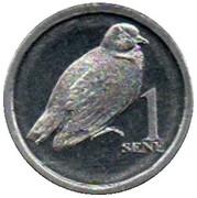 1 Sene (many-colored fruit dove) – reverse