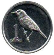 1 Sene (Cardinal myzomela) – reverse