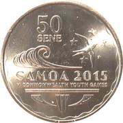 50 Sene - Tui Atua Tupua Tamasese Efi (Commonwealth Youth Games) – reverse