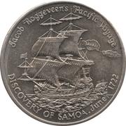 1 Tala - Tanumafili II (Discovery of Samoa) – reverse