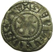 Denier - Etienne I (à la tête imberbe à droite) – reverse