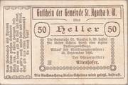 50 Heller (St. Agatha) -  obverse