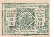 10 Heller (St. Georgen am Ybbsfelde) -  reverse