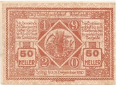 50 Heller (St. Georgen am Ybbsfelde) -  reverse
