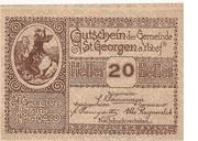 20 Heller (St. Georgen am Ybbsfelde) -  obverse