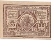 20 Heller (St. Georgen am Ybbsfelde) -  reverse