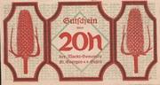 20 Heller (St. Georgen an der Gusen) – obverse