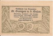 99 Heller (St. Georgen an der Gusen) – reverse