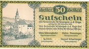 50 Heller (St. Georgen an der Leys) -  obverse