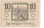 10 Heller (St. Georgen und Tollet) – reverse