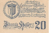 20 Heller (St. Georgen und Tollet) – obverse