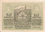 10 Heller (St. Gilgen) – obverse