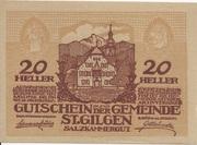 20 Heller (St. Gilgen) – obverse