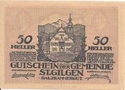 50 Heller (St. Gilgen) – obverse