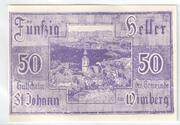 50 Heller (Sankt Johann am Wimberg) -  obverse