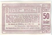 50 Heller (Sankt Johann am Wimberg) -  reverse