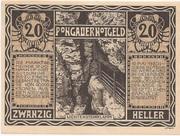 20 Heller (St. Johann im Pongau) – reverse