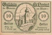 10 Heller (St. Leonhard am Walde) – obverse