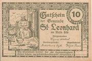 10 Heller (St. Leonhard am Walde) – reverse