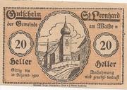 20 Heller (St. Leonhard am Walde) – obverse