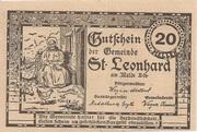 20 Heller (St. Leonhard am Walde) – reverse