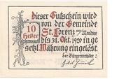 10 Heller (St. Lorenz am Mondsee) -  reverse