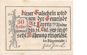 50 Heller (St. Lorenz am Mondsee) -  reverse