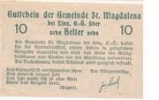 10 Heller (St. Magdalena bei Linz) – reverse