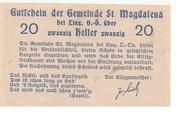 20 Heller (St. Magdalena bei Linz) – reverse