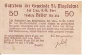 50 Heller (St. Magdalena bei Linz) – reverse