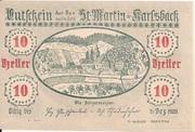 10 Heller (St. Martin am Ybbsfelde und Karlsbach) – obverse