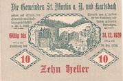 10 Heller (St. Martin am Ybbsfelde und Karlsbach) – reverse