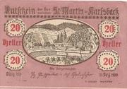 20 Heller (St. Martin am Ybbsfelde und Karlsbach) -  obverse