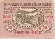 20 Heller (St. Martin am Ybbsfelde und Karlsbach) -  reverse