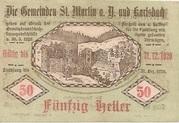 50 Heller (St. Martin am Ybbsfelde und Karlsbach) – reverse