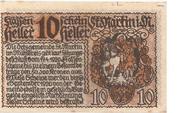 10 Heller (St. Martin im Mühlkreis) – reverse